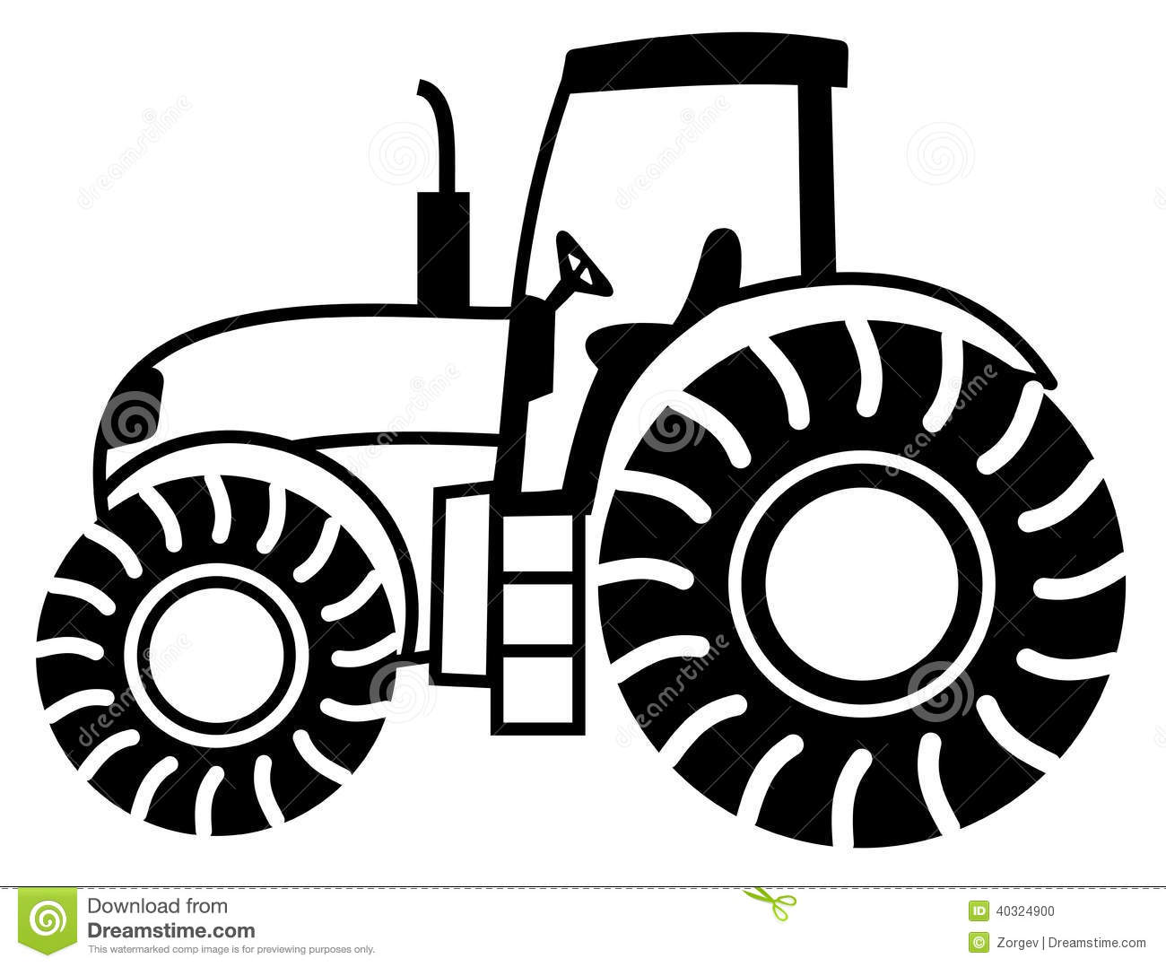 Tractor Black And White Clipart - Clipart Suggest