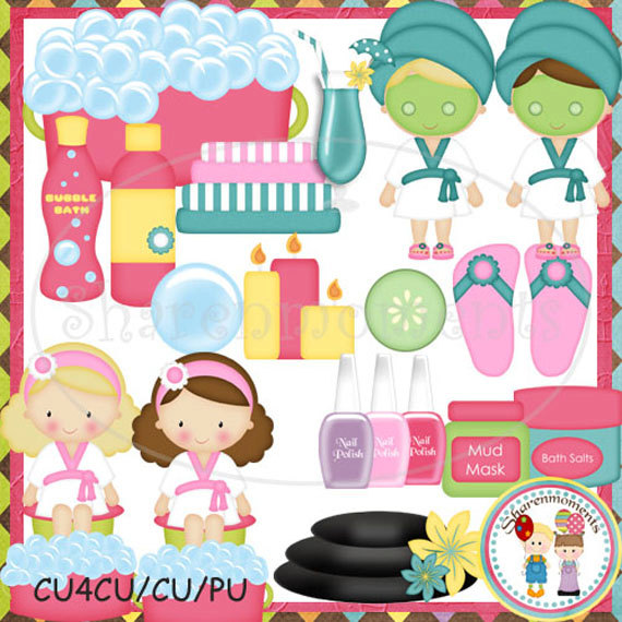 Unavailable Listing On Etsy: Spa Party Clipart