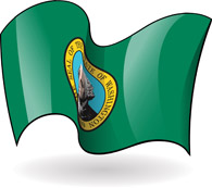 Wa State Flag Waving Clipart Washington State Flag Waving Hits