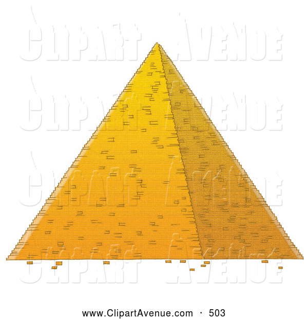 Avenue Clipart Of A Tall Well Built Egyptian Pyramid By Alex Bannykh