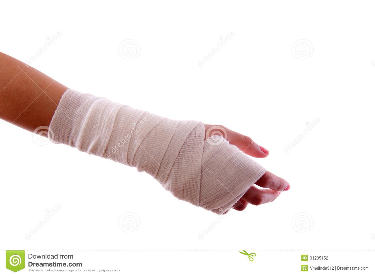 Bandaged Hand Stock Photography Image 31205152