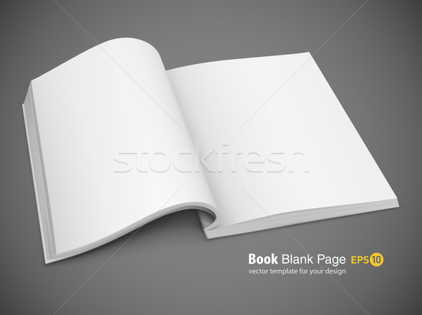 Blank Book Page Spread Of Book With Blank