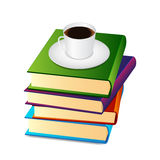 Books Cup Coffee Stock Vectors Illustrations   Clipart