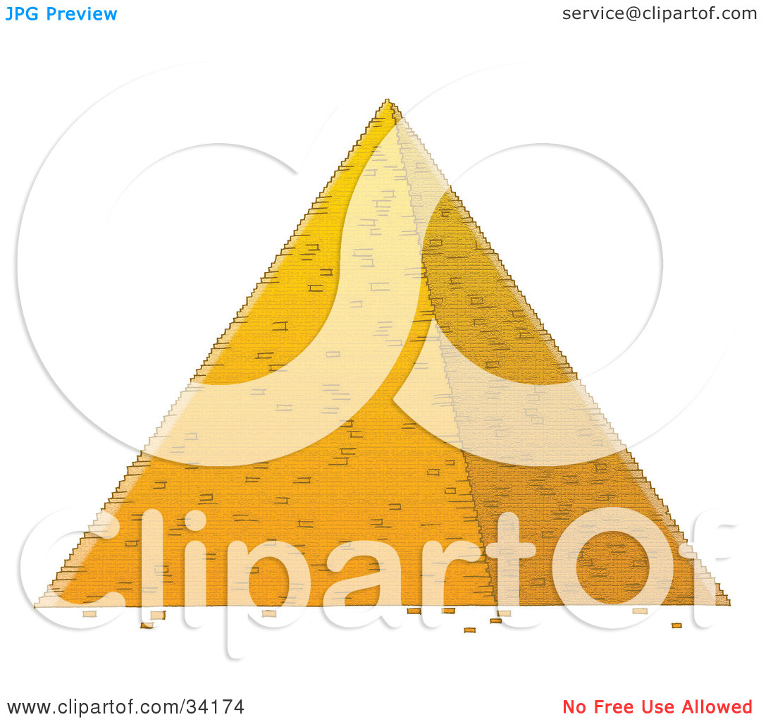 Clipart Illustration Of An Egyptian Pyramid By Alex Bannykh  34174