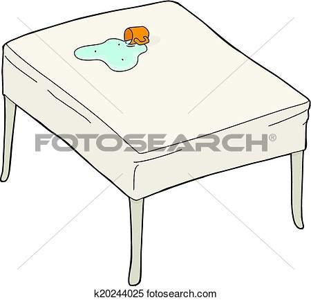 Clipart   Spilled Water On Table  Fotosearch   Search Clip Art