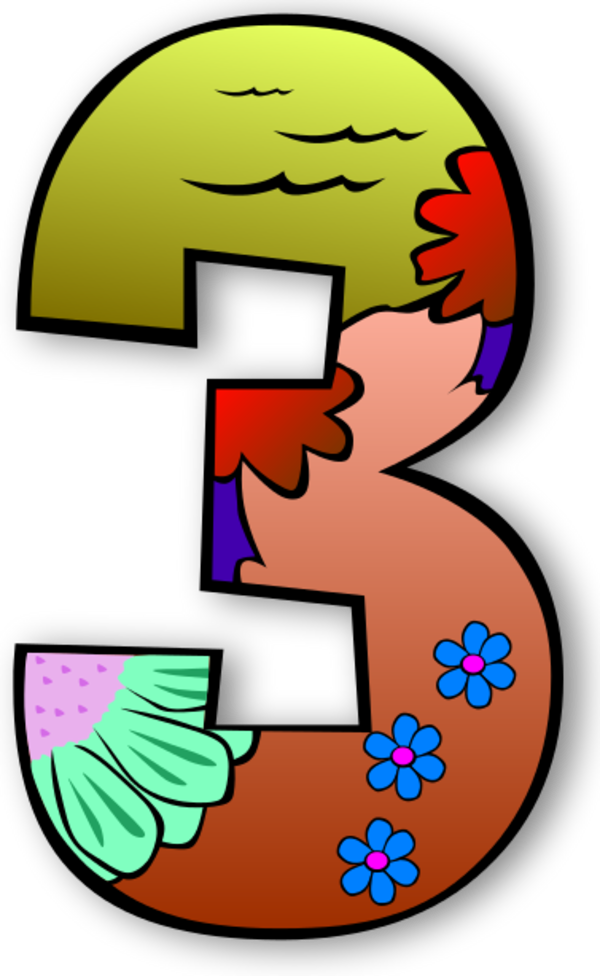 Creation Days Numbers 2 Vector Clip Art