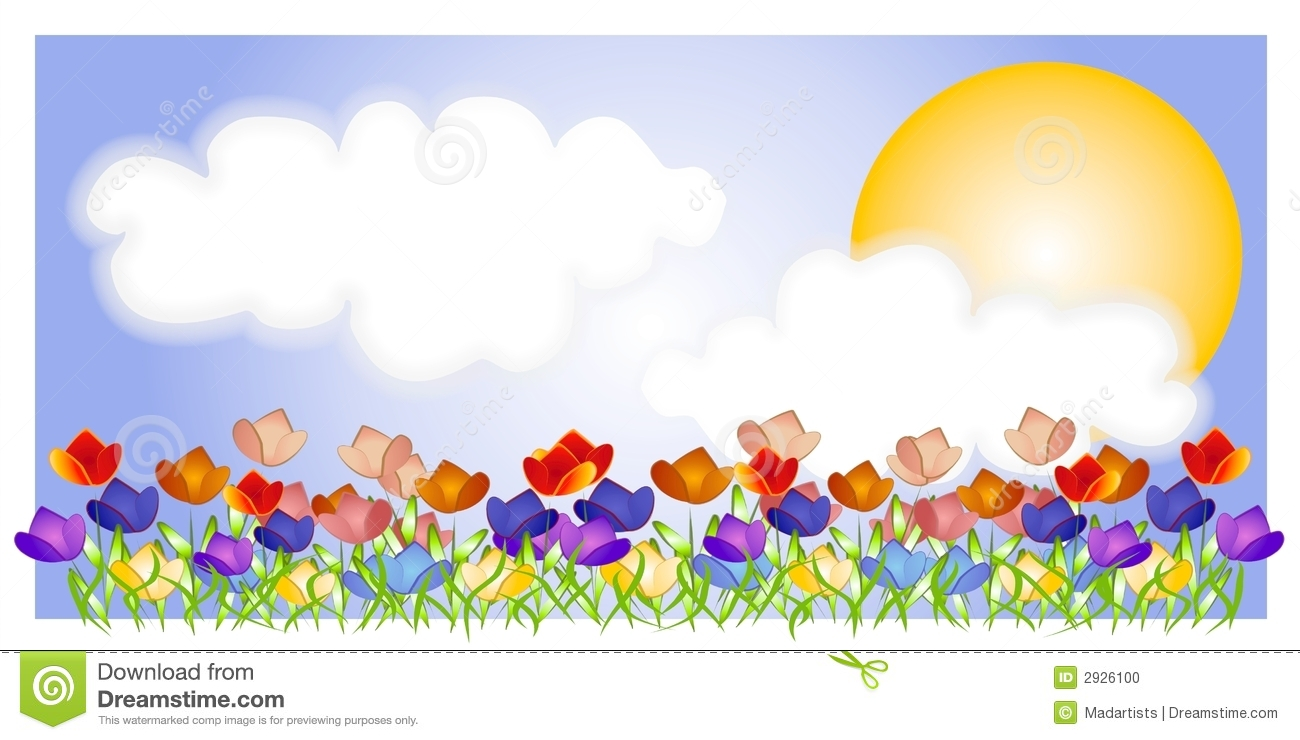 Displaying 15  Images For   Spring Scene Clipart