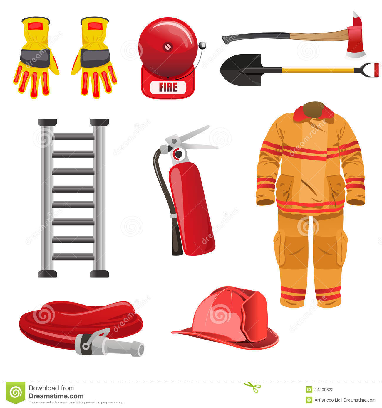 firefighters tools coloring pages - photo#34