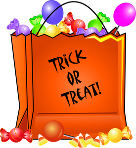 Halloween Clipart Image   Bag Of Trick Or Treat Halloween Candy
