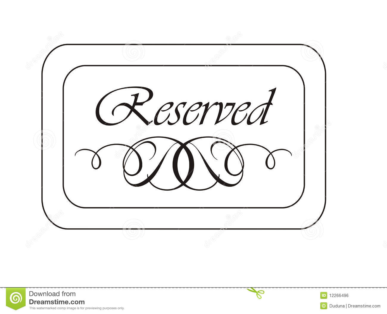Reserved sign clipart clipart suggest for Reserved seating signs template