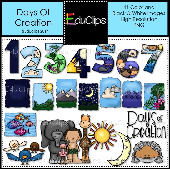 Second Day Of Creation Clip Art Days Of Creation Clip Art
