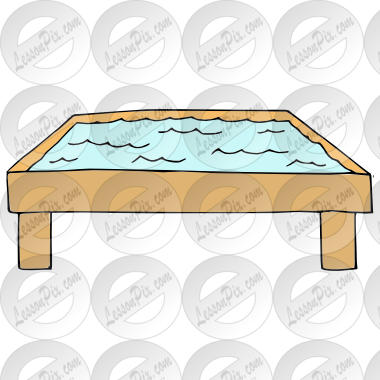 Table Picture For Classroom   Therapy Use   Great Water Table Clipart