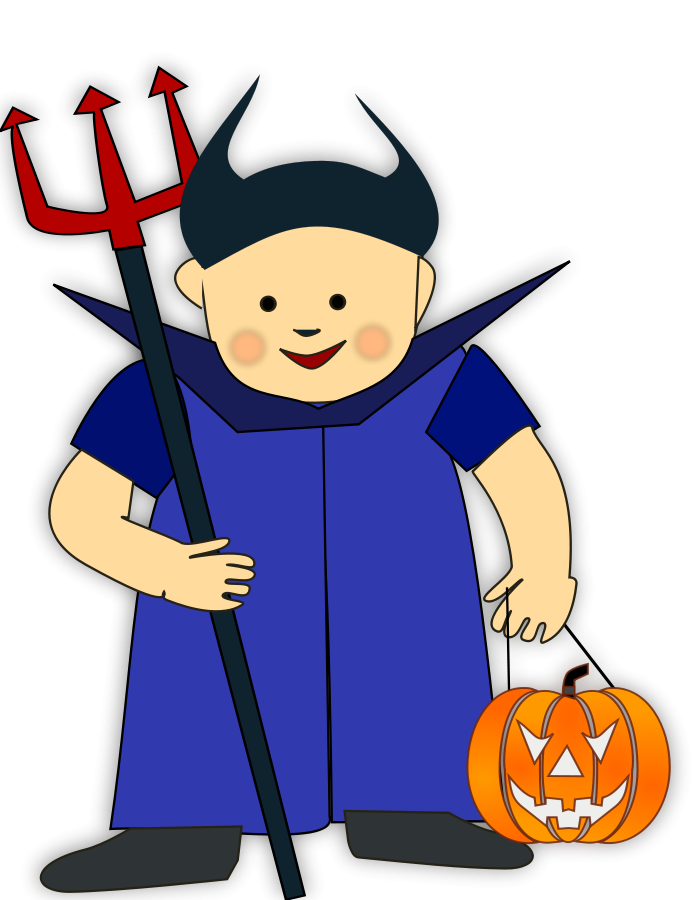 Trick Or Treat 2 Clipart Vector Clip Art Online Royalty Free Design