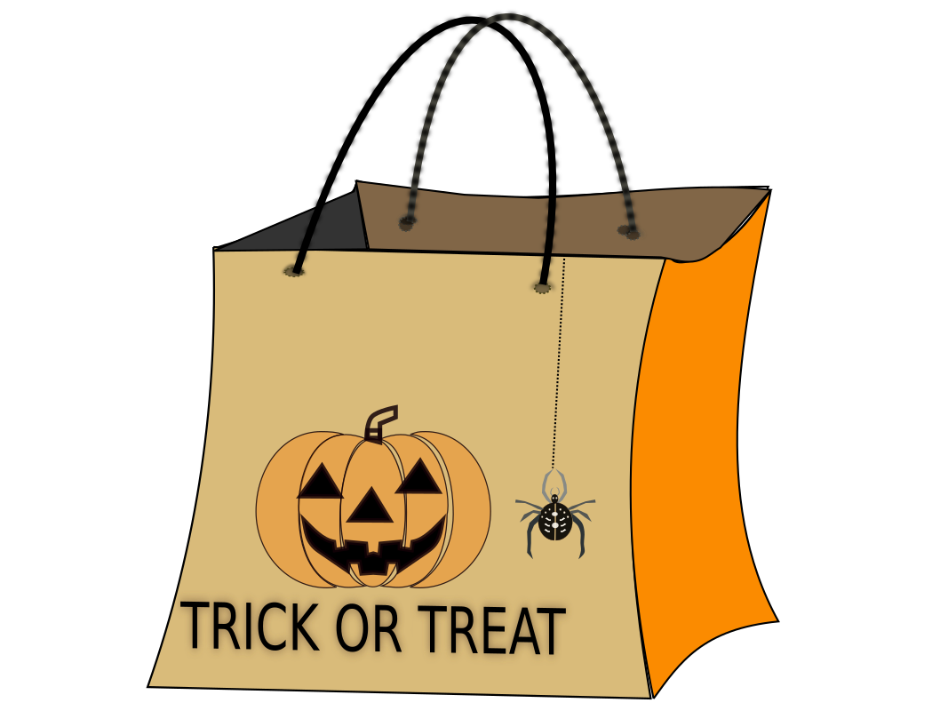 Trick Or Treat Bag By Netalloy   Halloween Clip Art By Net Alloy