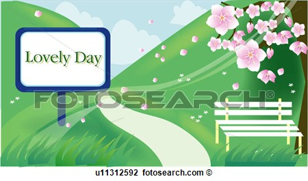 View Spring Scene Scenery Landscape Background Fourseason View