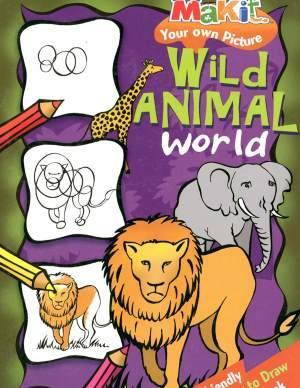 Wild Animals Together Drawing How To Draw Animals Book