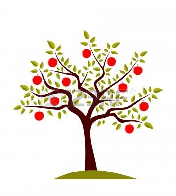 Apple Tree Clipart Black And White