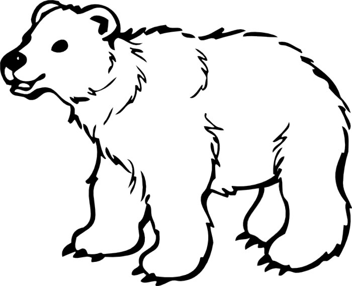 Bear Black And White Clipart - Clipart Suggest