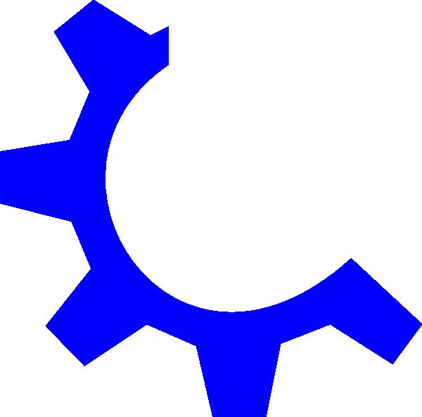 Blue Gear Multimedia Clip Art At Clker Com   Vector Clip Art Online