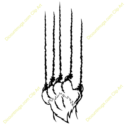 Bobcat Claw Marks Clipart Claw Clipart