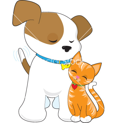 Cat And Dog Vector Clip Art Stock Photography Image