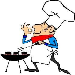 Cooking On The Barbecue Grill  Free Hilarious Labor Day Bbq Clip Art