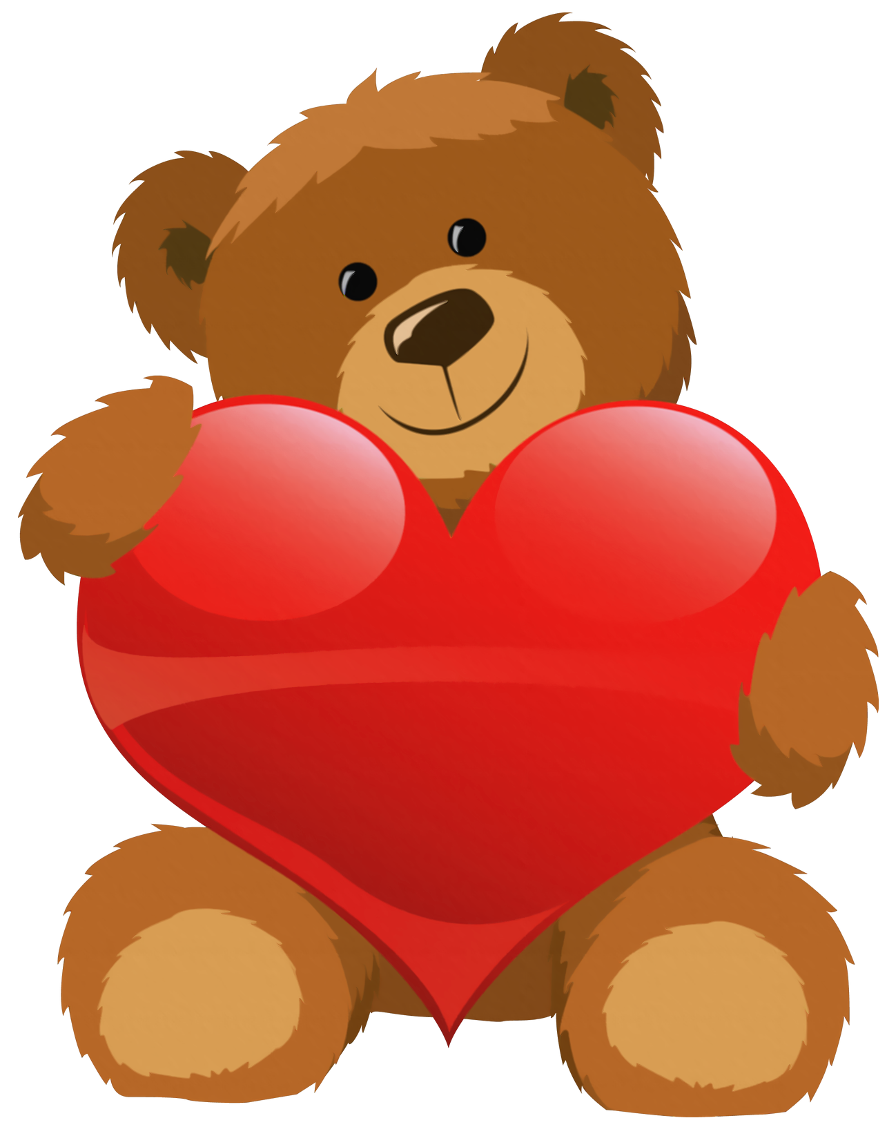 Cute Grizzly Bear Clipart Cute Bear With Heart Png Clipart Picture Png