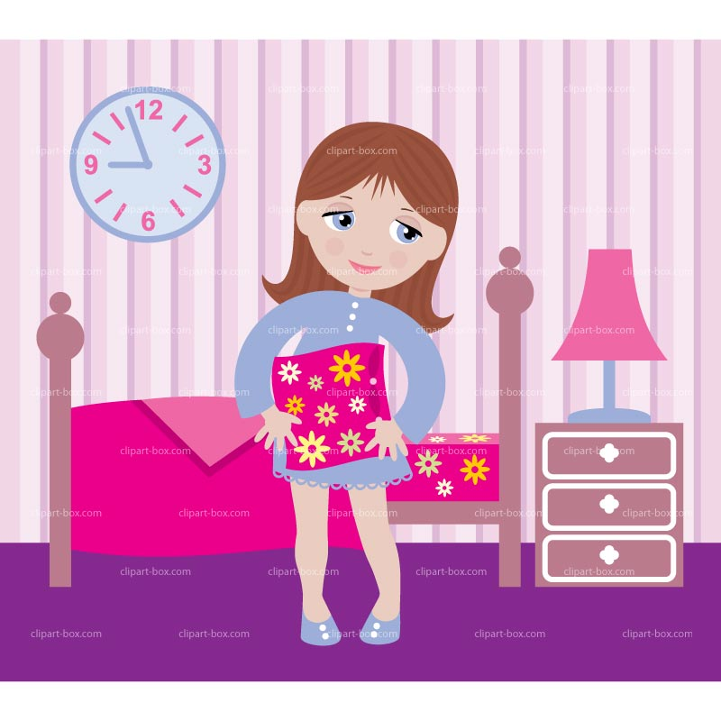 clipart of a girl waking up - photo #7