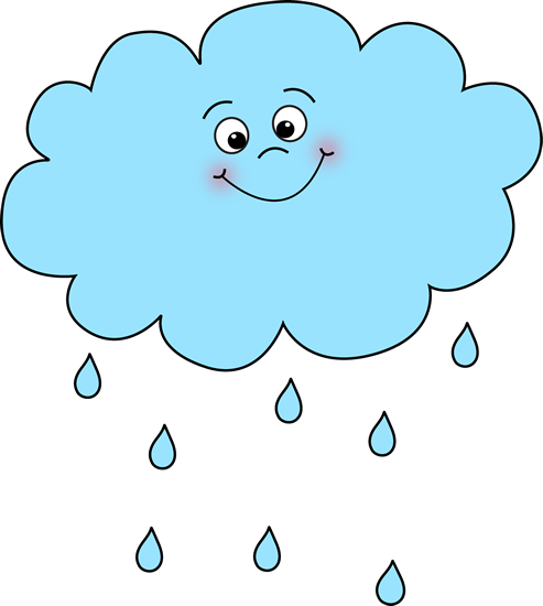 Happy Rain Cloud Clip Art
