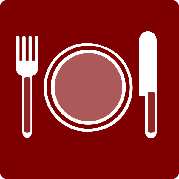 Hotel Icon Restaurant Clip Art   Red White Clip Art At Clker Com