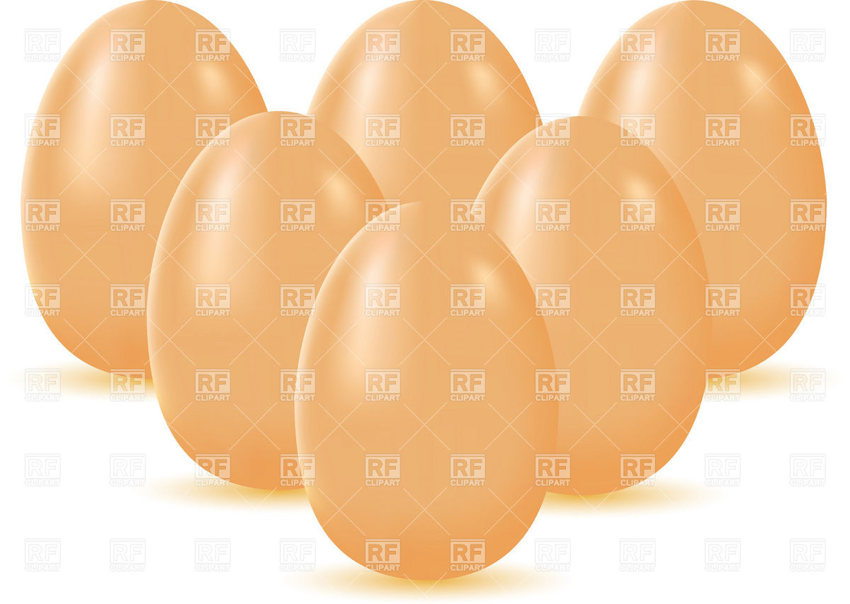Set Of Brown Eggs 19316 Download Royalty Free Vector Clipart  Eps