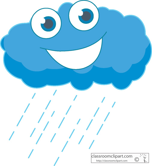 Weather Clipart  Smiling Rain Cloud 1231   Classroom Clipart