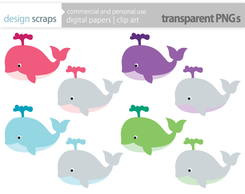 clipart baby shower whale - photo #34