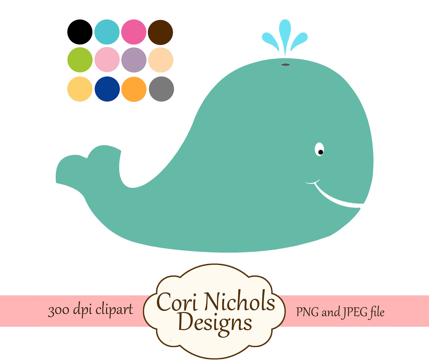 clipart baby shower whale - photo #19