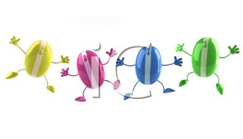 3d Computer Mice Dancing   Royalty Free Clipart Image