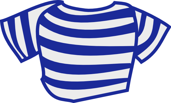 Blue Striped Shirt Clip Art At Clker Com   Vector Clip Art Online