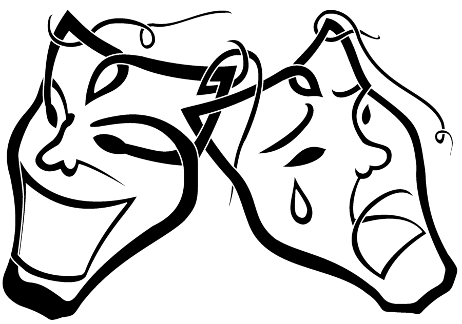 Drama Masks Clipart - Synkee