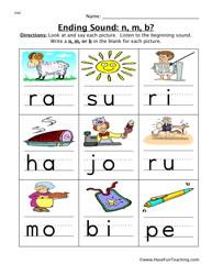 Worksheets Beginning And Ending Sounds Worksheets ending sounds clipart kid worksheets have fun teaching