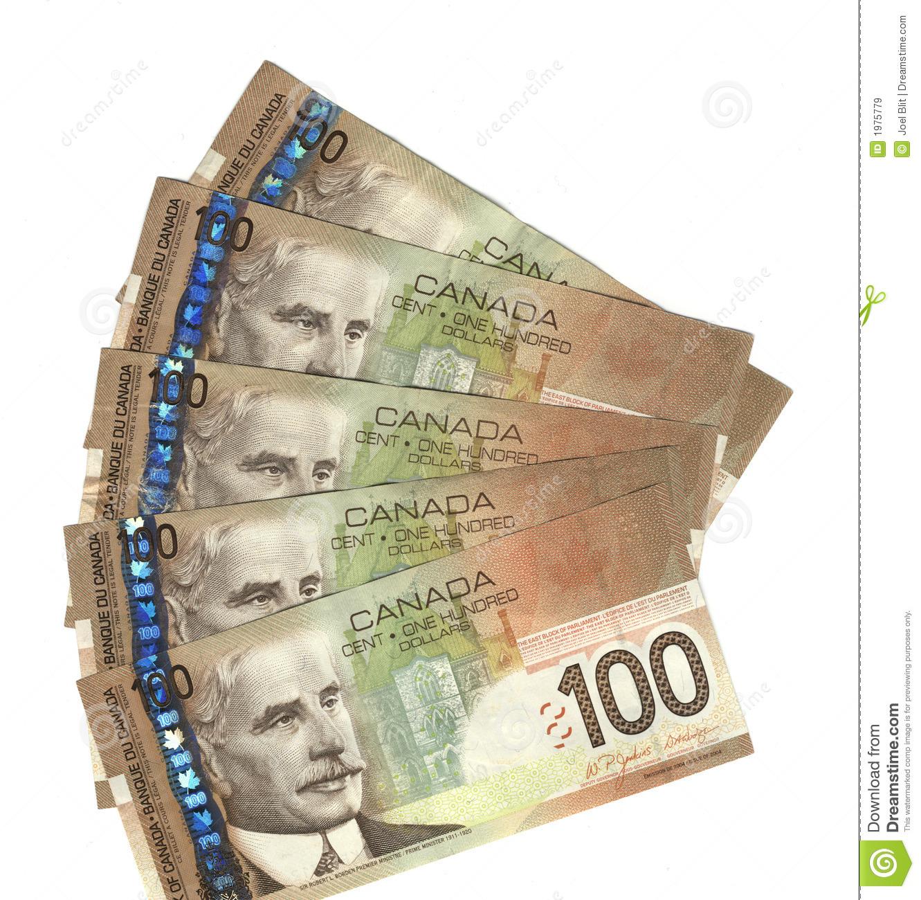 100 канадских долларов фото