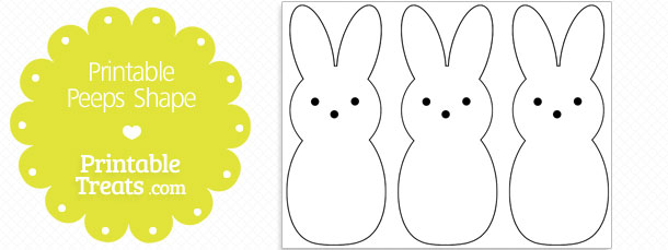 Free Printable Peeps Shape Template
