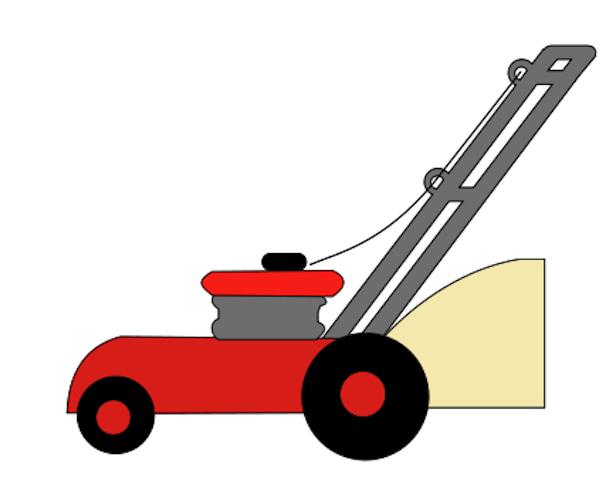 free cartoon lawn mower clipart - photo #16