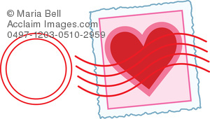 Love Letter Stamp Clip Art Illustration   Acclaim Stock Photography