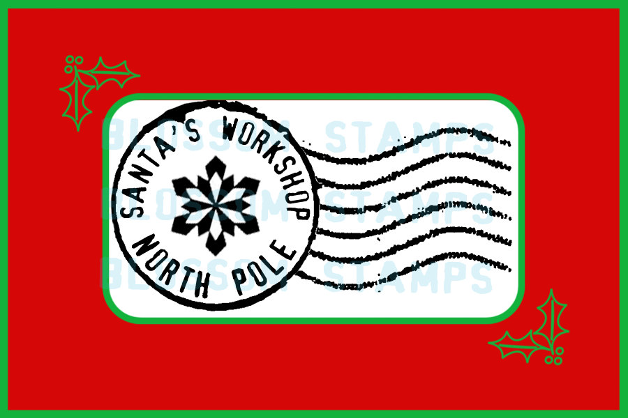North Pole Stamp Clip Art Christmas North Pole Letter