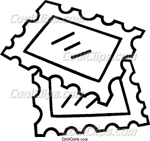 Postage Stamp Clip Art Black And White Postage Stamps Clipart...