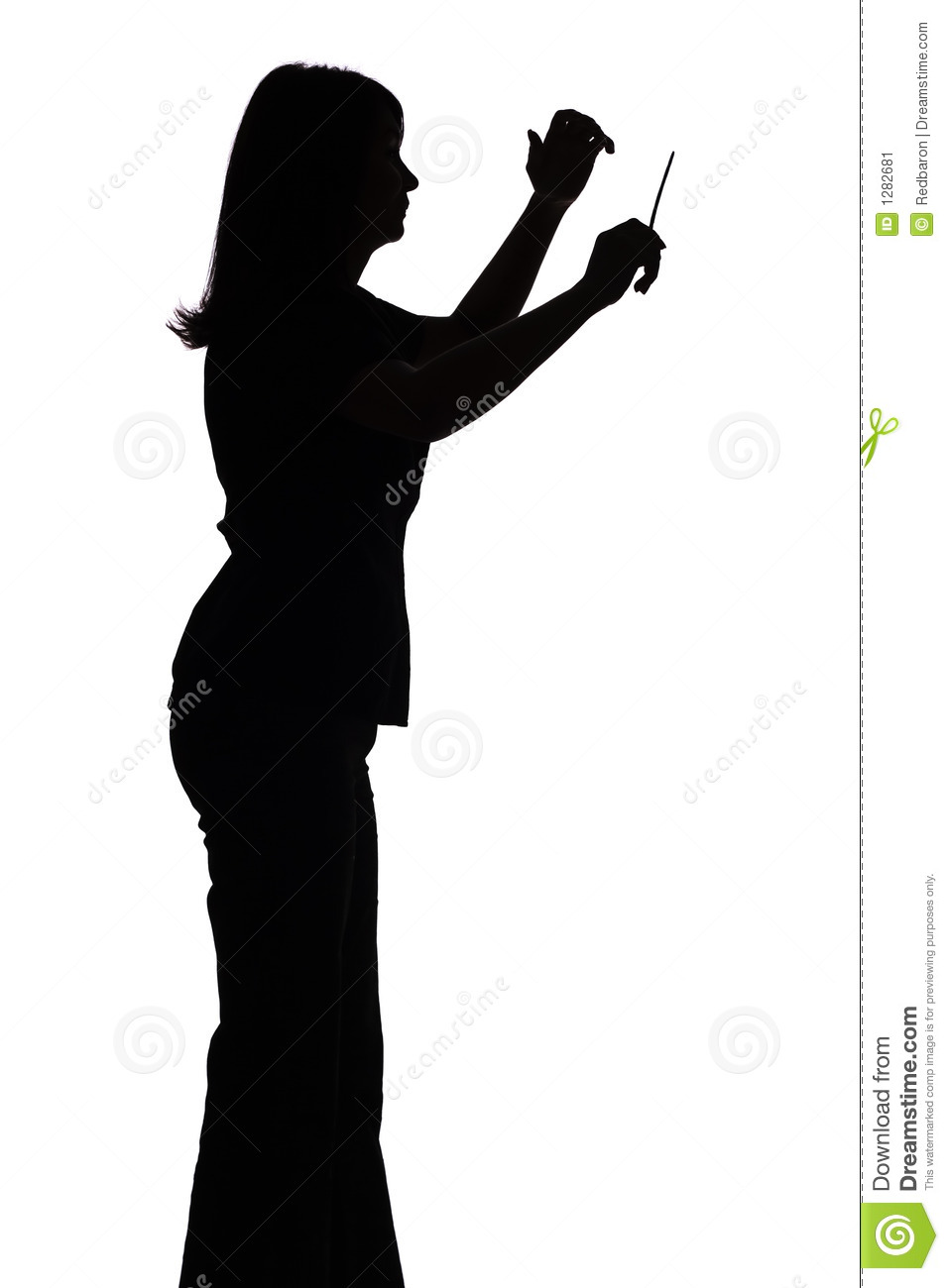 Silhouette Of Female Conductor Stock Image   Image  1282681