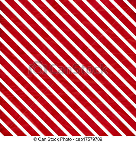 Stock Illustration   A Crumpled Paper In A Red And White Stripe
