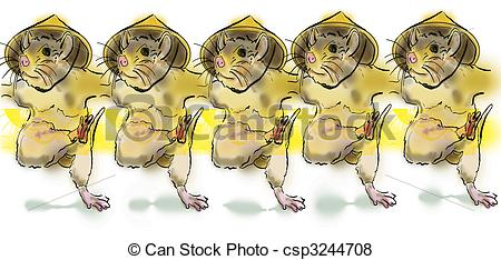 Stock Illustration Of Illustration Of Dancing Mice   Dancing Mice In A