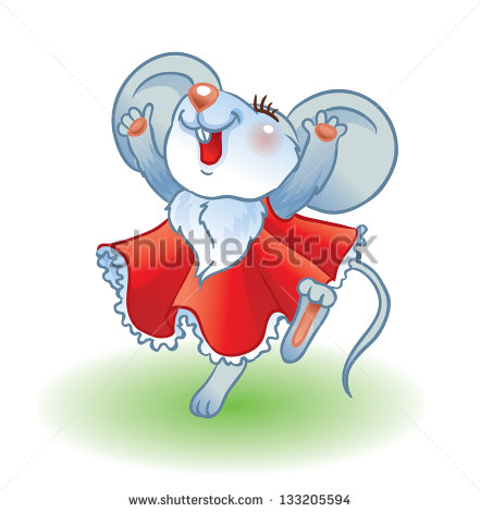 Stock Vector Dancing Mouse Illustration Of Cute Mouse Dancing And