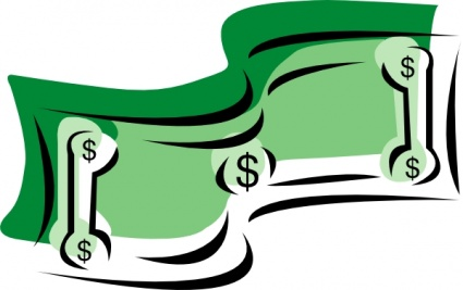 Stylized Dollar Bill Money Clip Art Vector Free Vector Images