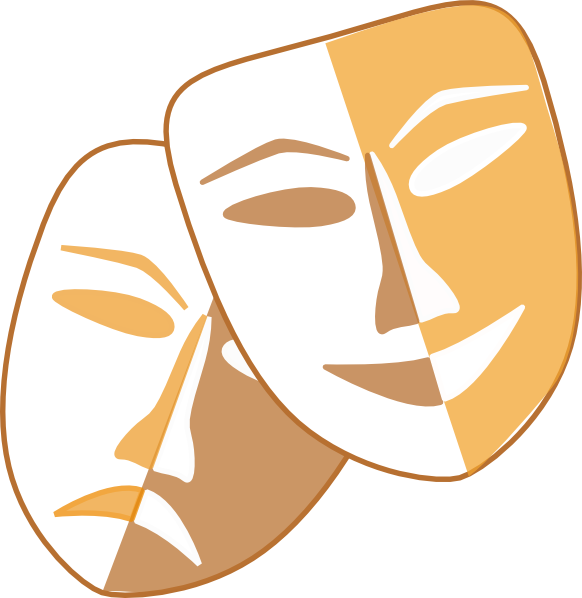 Theatre Masks Clip Art At Clker Com   Vector Clip Art Online Royalty